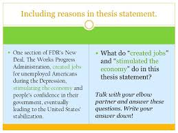 works progress administration facts a guide to success thesis statement yes this is a research project