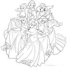 Disney Princess Coloring Page Domlinkovinfo
