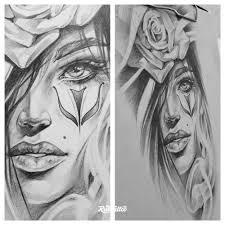 фото эскизы девушка чикано в стиле черно белые чикано татуировки