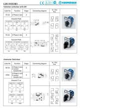 voltmeter switch 3 phase 3 wire rotary switch cam switch vs33 voltmeter switch 3 phase 3 wire rotary switch cam switch vs33