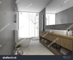 3d Rendering Modern Clean Bathroom Toilet Stock Illustration ...