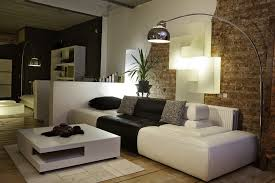room mood lighting. Living Room Furniture Arrangement With Contemporary Floor And Wall Sconce Lighting, Black White Color Mood Lighting