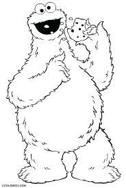 Monster Color Pages Printable Cookie Monster Coloring Pages For Kids