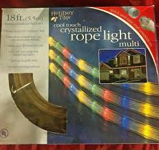 Holiday Time 18 Ft Crystallized Rope Light Blue Holiday Time Coot Touch Crystalize Multi Color Rope Light 18 Ft