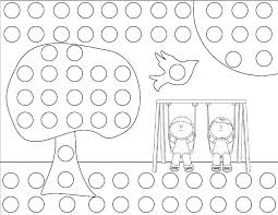 Color By Dots Coloring Pages Color By Dots Coloring Pages Bingo Dot