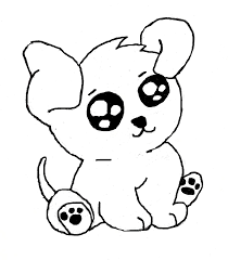 Small Picture Cute Easy Puppy Coloring Pages Coloring Pages