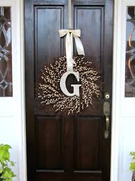 initial wreaths for front doorFront Doors Winsome Winter Front Door Wreath Great Inspirations