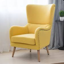 mid century modern wingback chair in two toned for living room bedroom furniture armchair