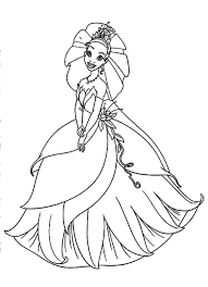 Small Picture Download and Print Beautiful Tiana With Wedding Dress In Disney