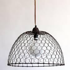 Chicken Wire Basket Pendant Lamp - Dana