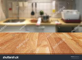 countertop background. Wood Table And Blurred Kitchen Background Countertop E