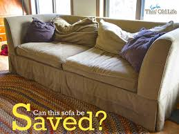 a diy sofa makeover in couch back pillows decor 4