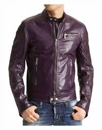 purple faux leather jacket