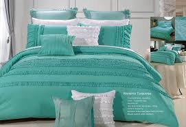 wenshia turquoise quilt cover in king or queen size