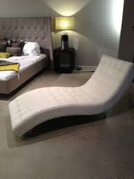 office chaise. Delighful Office Minimalist White Leather Chaise Lounge Chair With Tufted And Curved Frame  In Modern Bedroom Comfy Office Viking Furniture Plans Gold Computer Minimal Design  Intended