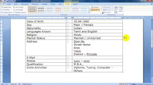 Simple One Page Resume Model In Microsoft Word Youtube