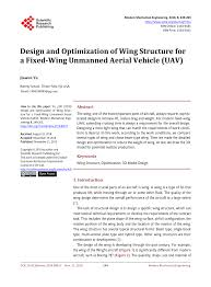 Fixed Research Design Pdf Design And Optimization Of Wing Structure For A Fixed