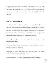 Psychology Internship Report