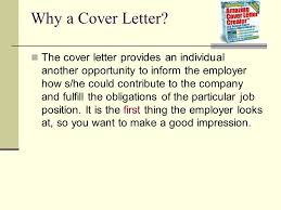 Cover Letters Purpose And Importance Why A Cover Letter The Cover