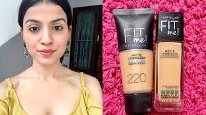 Maybelline Skin Tone Chart Maybelline Fit Me Vs Fit Me Natural Buff Vs Natural Beige For Indian Medium Olive Skin Tone