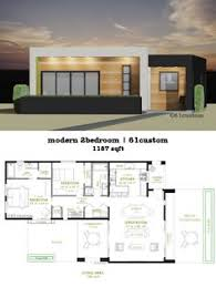 small modern house plans. Modern 2 Bedroom House Plan | 61custom More Small Plans