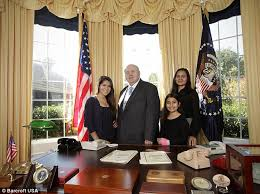 oval office desk replica. Ron Wade 63, Wife Laura, 36, And Children, Valentina, 16, Oval Office Desk Replica