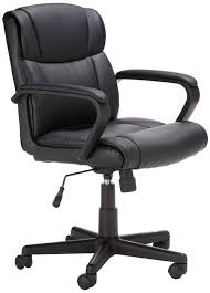 comfortable office chairs for gaming. amazonbasics-mid-back-leather-office-chair comfortable office chairs for gaming high ground