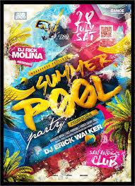 Part Flyer 9 Pool Party Flyers Designs Templates Free Premium Templates