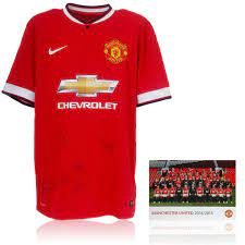 Manchester United 2014/15 Hand Signed Official Large Home Shirt COA