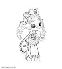 Shopkins Coloring Pages Free Bubbleisha