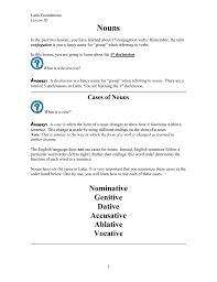 Lesson 3 First Declension Nouns Lesson_03