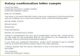 Salary Statement Letter Sample Shreepackaging Co
