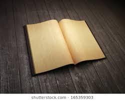 open blank old book 3d rendering