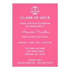 Class Party Invitation Class Of 2018 Scales Graduation Invite Pink Graduation Party