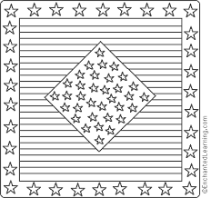 Small Picture American Quilt Stars and Stripes Coloring Page