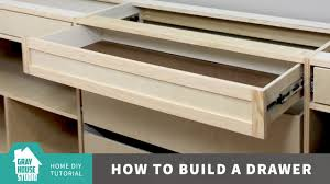 How To Make Drawers How To Build A Drawer Youtube