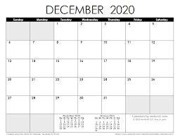Blank Dec 2020 Calendar 2020 Calendar Templates And Images