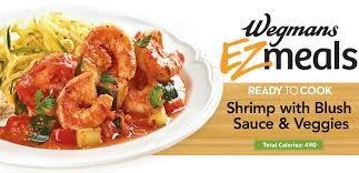 home wegmans ready to cook shrimp blush sauce and veggies