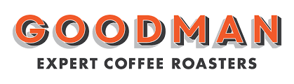 goodman logo. goodman coffee roasters logo