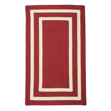 home decorators collection griffin border red white 2 ft x 3 ft braided