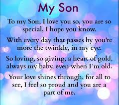 Love My Son Quotes Gorgeous Love Quotes About My Son Hover Me
