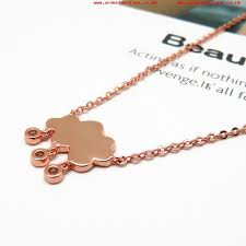 rose gold plated fashion costume jewelry necklace with 3a cz larger image