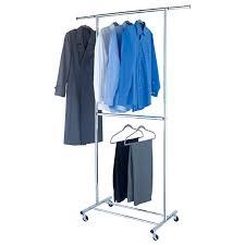 double hang closet organizer bed bath beyond. wardrobes: chrome metal double hang clothes rack hanging folder on wheels closet organizer bed bath beyond