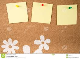 Board Memo Template Sticky Note Memo On Board Stock Illustration Illustration Of 7