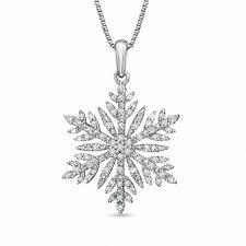 1 10 ct t w diamond snowflake pendant in 10k white gold