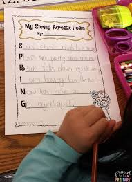 Spring Acrostic Poems To Beautify Your Classroom