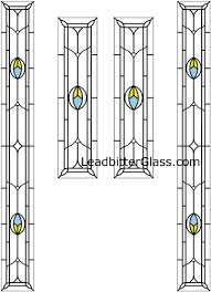 stained glass door side panels