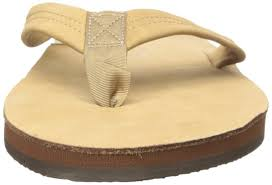 Mens Rainbow Sandals Mens Premier Leather Double Layer With