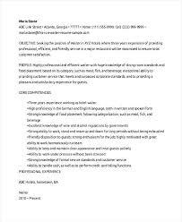 Bottle Service Resume New Waiter Resume Sample Waiter Resume Sample Waiter Resume Sample