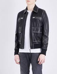 designers sel black leather jackets for men